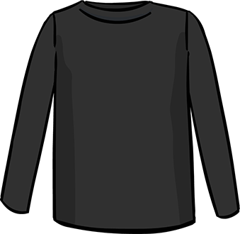 black long sleeved tshirt