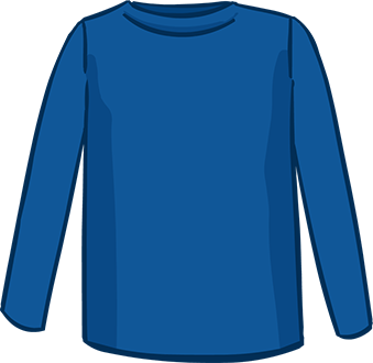 blue long sleeved tshirt