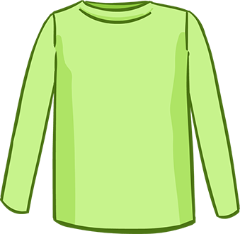 green long sleeved tshirt