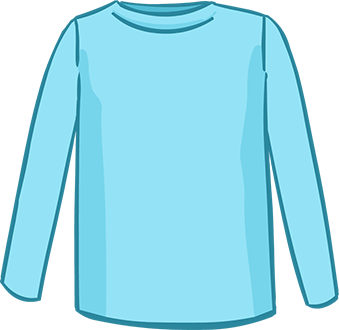 light blue long sleeved tshirt