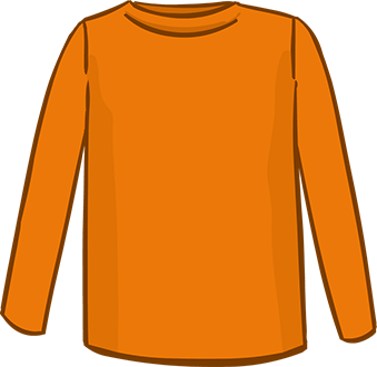 orange long sleeved tshirt