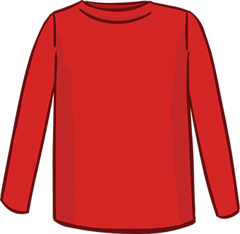 red long sleeved tshirt