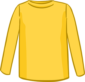 yellow long sleeved tshirt