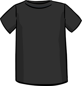 black short sleeved tshirt