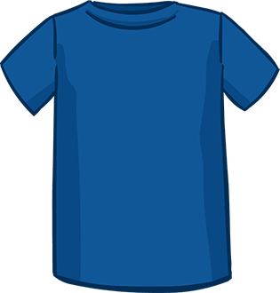 blue short sleeved tshirt