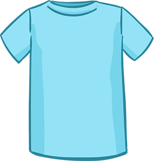 light blue short sleeved tshirt