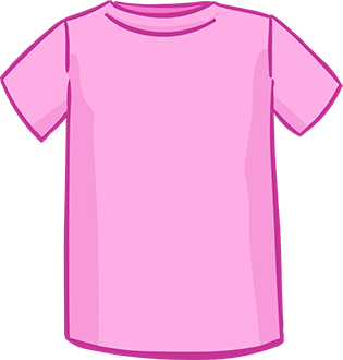 pink short sleeved tshirt