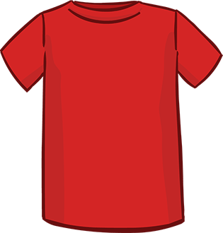 red short sleeved tshirt