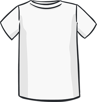 white short sleeved tshirt